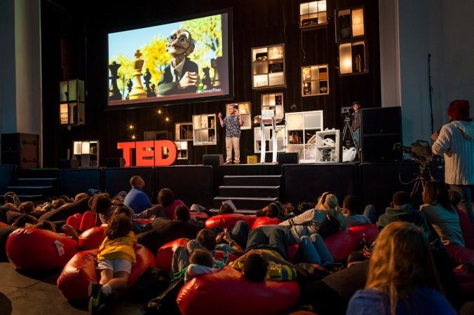 Tony DeRose captivated the audience at TEDYouth, sharing how mathematics makes Pixar characters look so life-like. Photo: Ryan Lash
